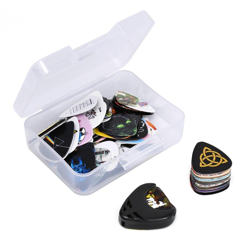 guitar-accessories 100 Pack Acoustic Electric Guitar Bass Picks Rock Iconic Famous Classic Albums Guitar Cool Celluloid Picks & Plectrums Pick Hold HOB1811608