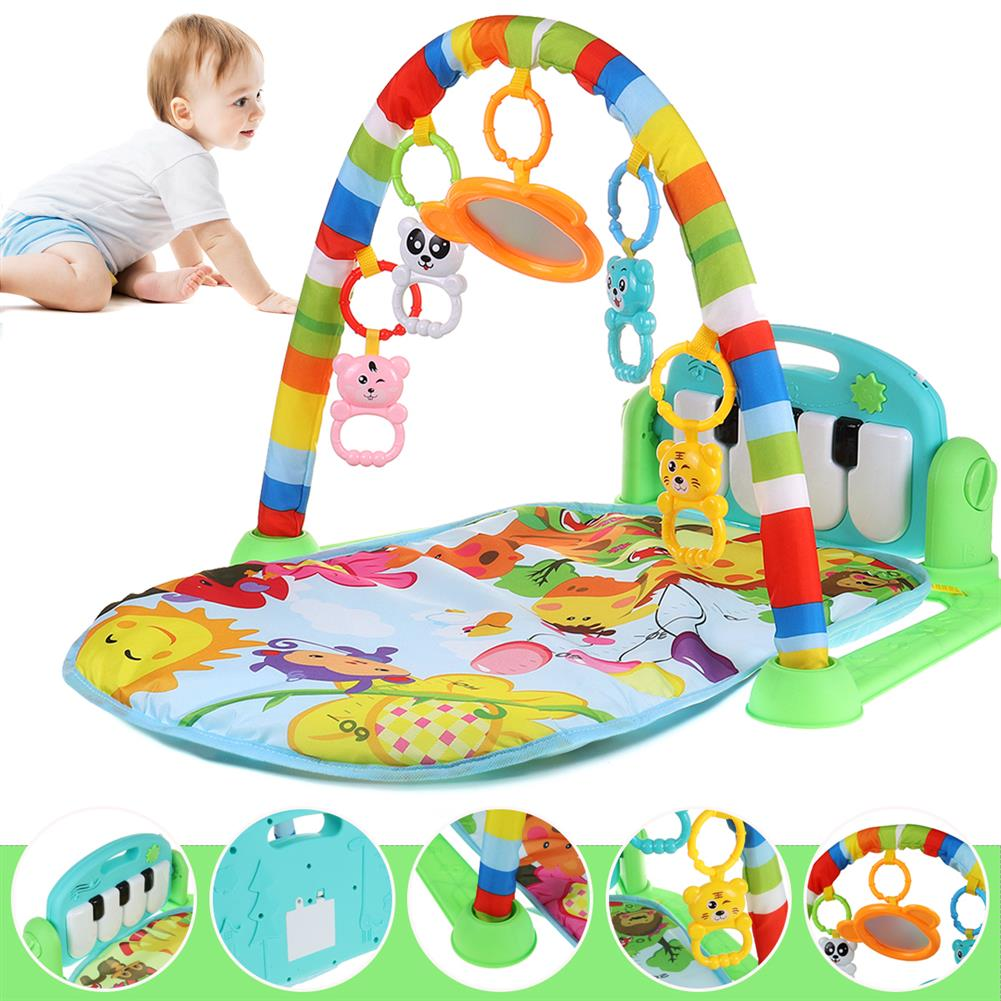 play-mats 5 in 1 Baby infant Gym Activity Floor Play Mat Piano Musical Educational Toys for Boy Girl Development Play Mat HOB1811792