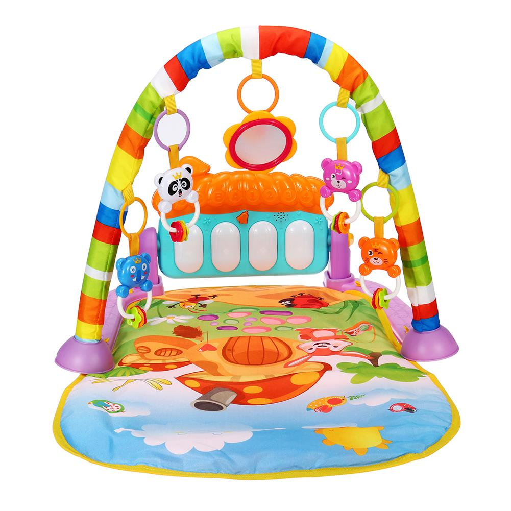 baby-rattles-mobiles 5 in 1 Piano Musical Educational Playmat Toys Baby infant Gym Activity Floor Play Mat for Boy Girl Development Play Mat HOB1811793