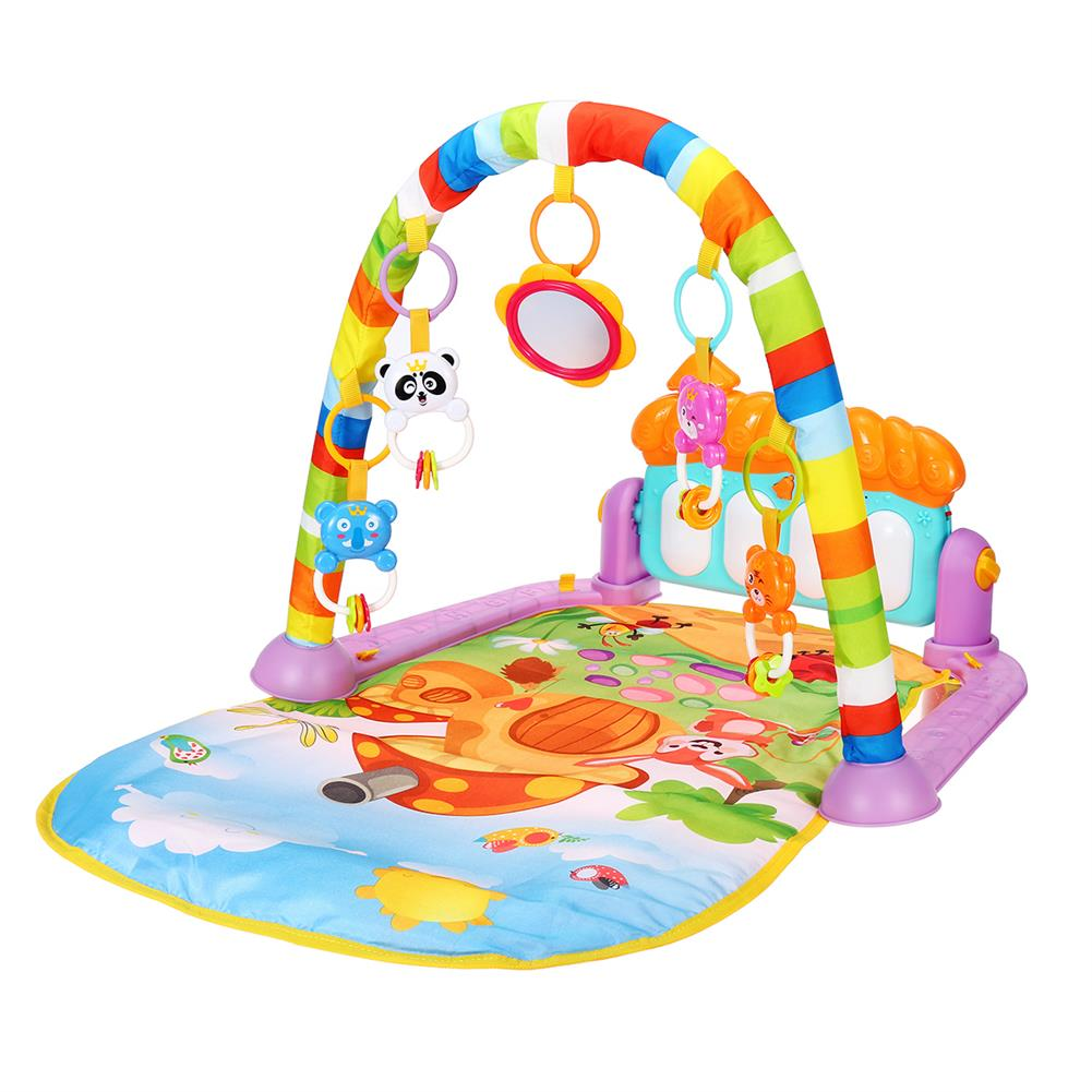 baby-rattles-mobiles 5 in 1 Piano Musical Educational Playmat Toys Baby infant Gym Activity Floor Play Mat for Boy Girl Development Play Mat HOB1811793 1