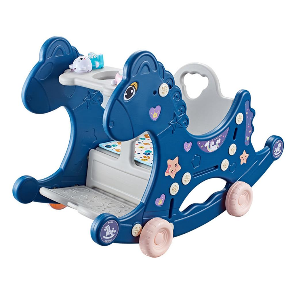 play-mats 4 in 1 Baby Multifunctional Rocking Horse Toy Rider Rocking Horse Seat Purpose Kids Ride for 1-6 Years Old Baby Toys HOB1811803