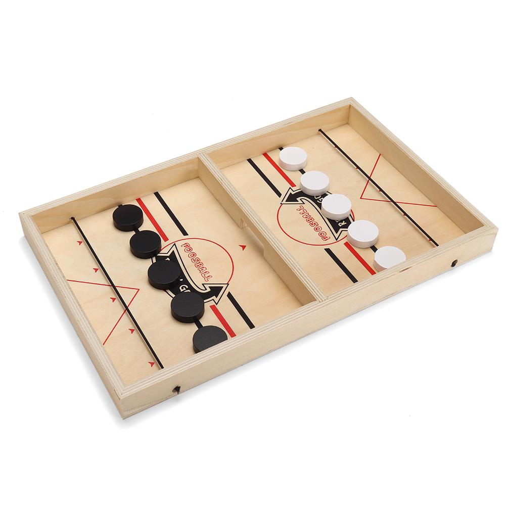 puzzle-game-toys Wooden Chess Bouncing Hockey Puzzle 2-Player Parent-kid interactive Board Game Set Educational Toy for Leisure Picnic Family Activity HOB1812988 1