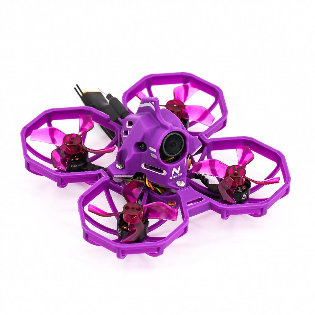 fpv-racing-drone NVision Junior Racer 75mm F4 AIO 12A ESC 3S Whoop FPV Racing Drone RTF 1103 8000KV Motor 5.8G VTX 300mAh Caddx Eco2 2.1mm Camera Radio Transmitter FPV Goggles HOB1813042 2