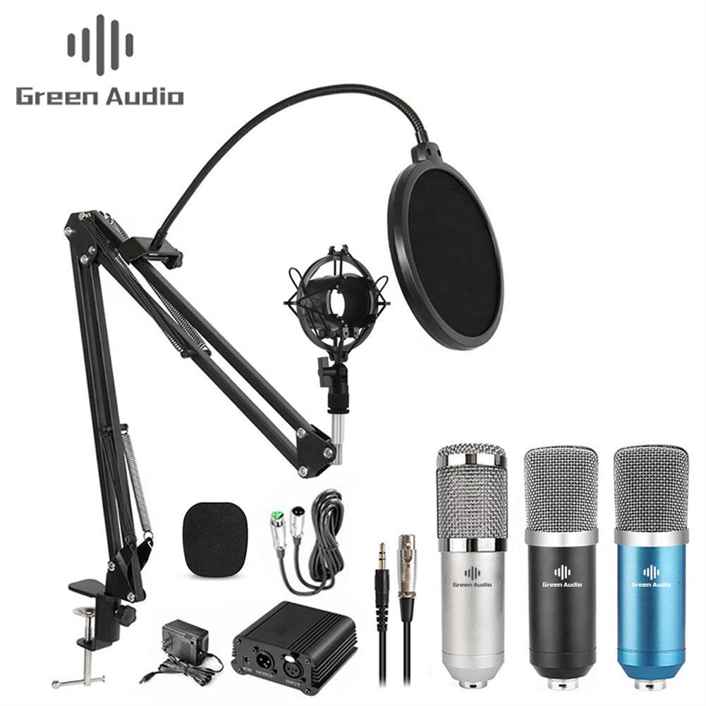 microphones-karaoke-equipment GAM-800 Green Audio Condenser Microphone Kit for Karaoke Living Recoarding with Phantom Power HOB1813331