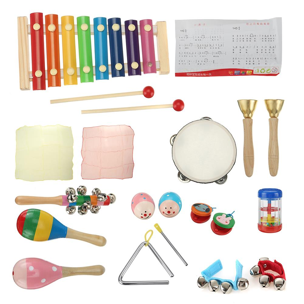 orff-instruments 21PCS Percussion Xylophone Set Kid Baby Toddler Musical instrument Toys Band HOB1813507