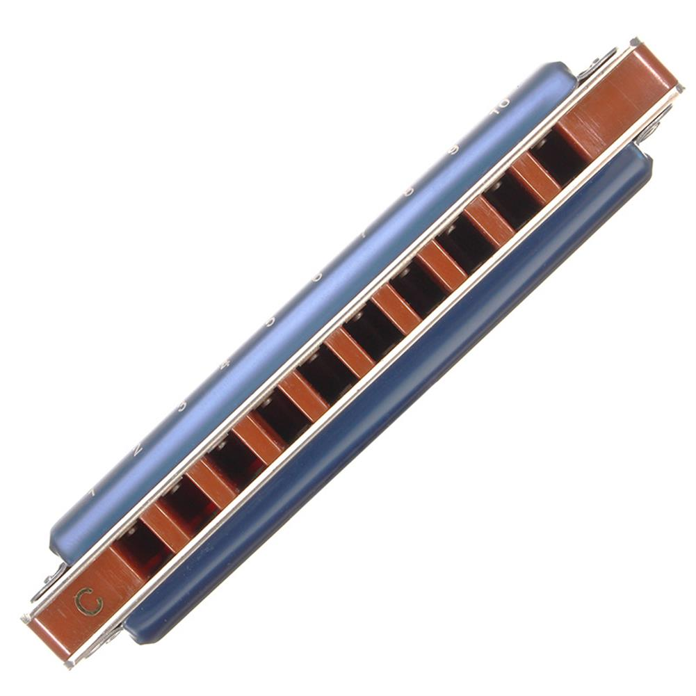 harmonica 7PCS Easttop T008K 10 Hole Blues Harmonica Tone A B C D E F G Blue Color for Beginner HOB1814134 2