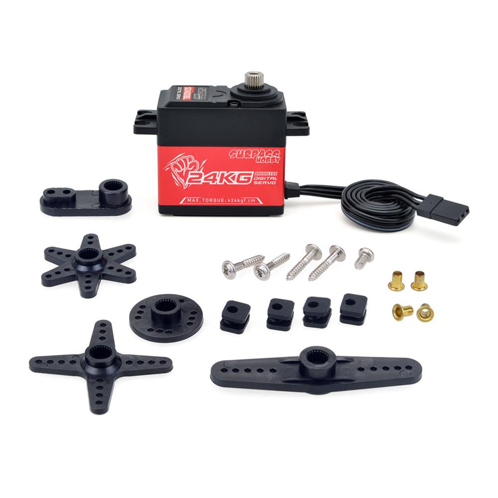 rc-car-parts Surpass Hobby S2400Bl 24Kg Servo Brushless Digital Steering Gear for RC Quadcopter Airplane Ship Car intelligent Home Robots Parts HOB1815770