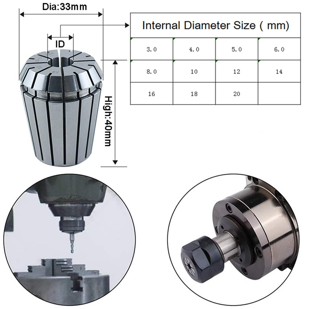 tools-bags-storage RJX 3-20mm AAA 5um ER32 Precision Spring Collet for CNC Milling Lathe Tool HOB1815844 2