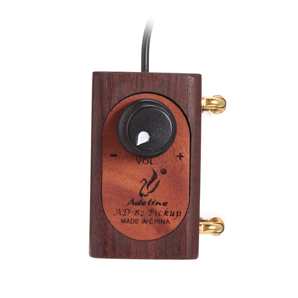 strings-accessories Adeline AD82 Preamplifier Adjustable Height Professional Violin Pickup HOB1817040 1