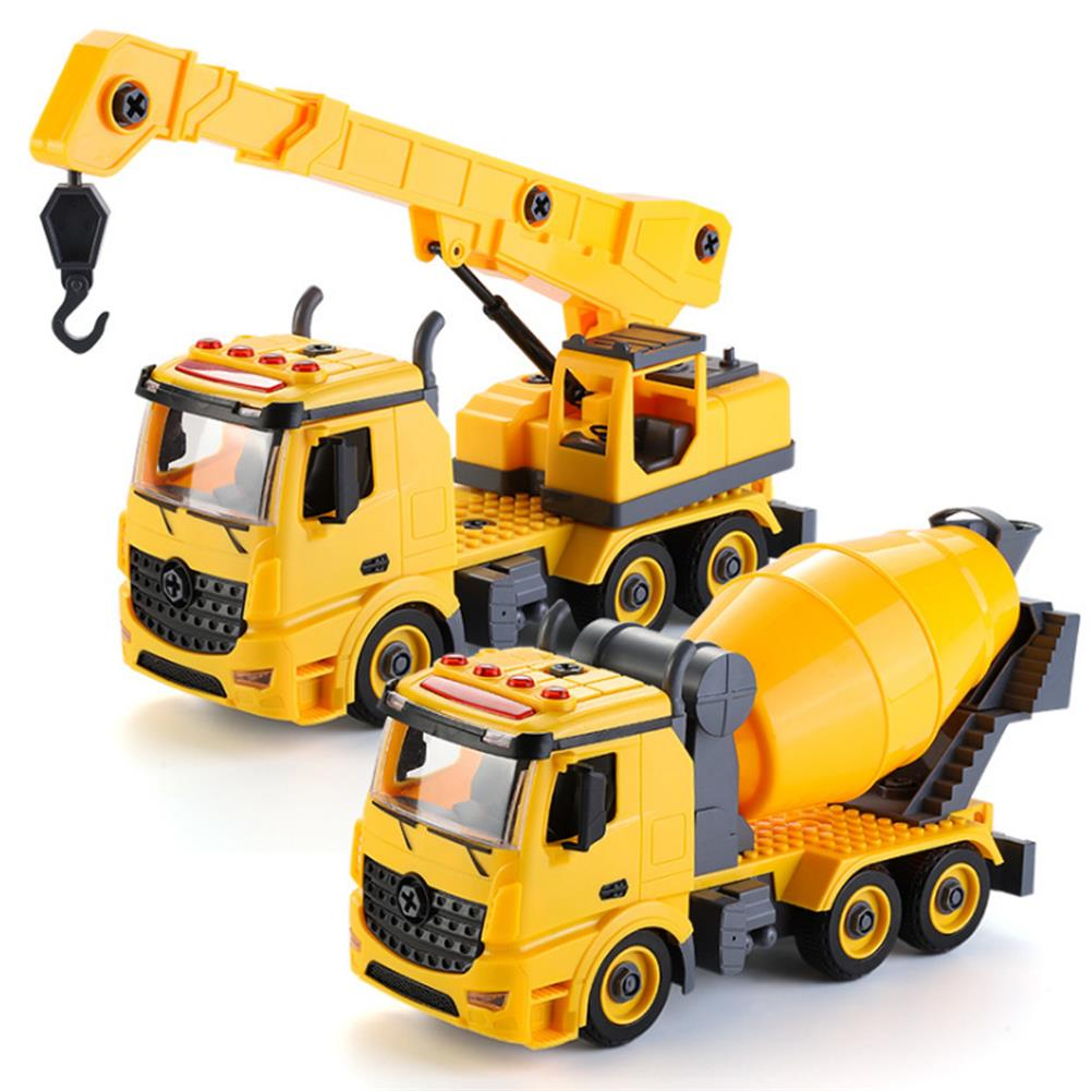 diecasts-model-toys Simulation DIY Nut Disassembly Loading Unloading Assembly Engineering Truck Excavator Bulldozer Car Model Toy with LED Light & Music Effect for Kis Gift HOB1817557