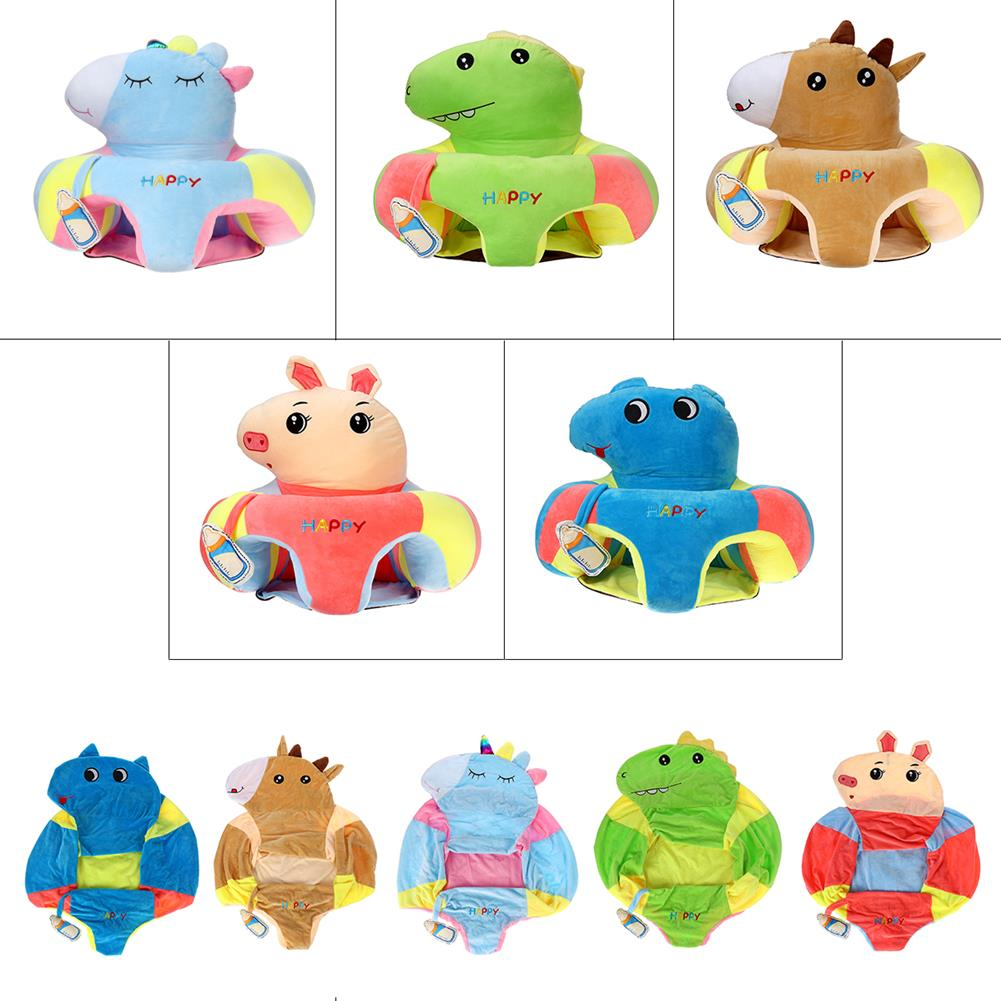 stuffed-plush-toys Multi-Style Kids Baby Support Seats Sit Up Soft Chair Sofa Cartoon Animal Kids Learning To Sit Plush Pillow Toy HOB1817560