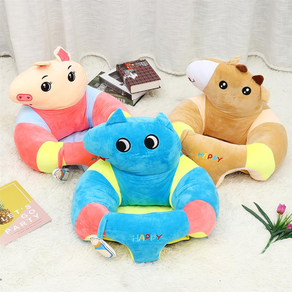 stuffed-plush-toys Multi-Style Kids Baby Support Seats Sit Up Soft Chair Sofa Cartoon Animal Kids Learning To Sit Plush Pillow Toy HOB1817560 1