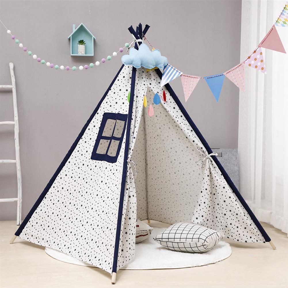 play-mats 135cm Kid 10t House Portable Princess Castle Present Hang Flag Children Teepee 10t Play 10t Birthday Christmas Gift HOB1817997