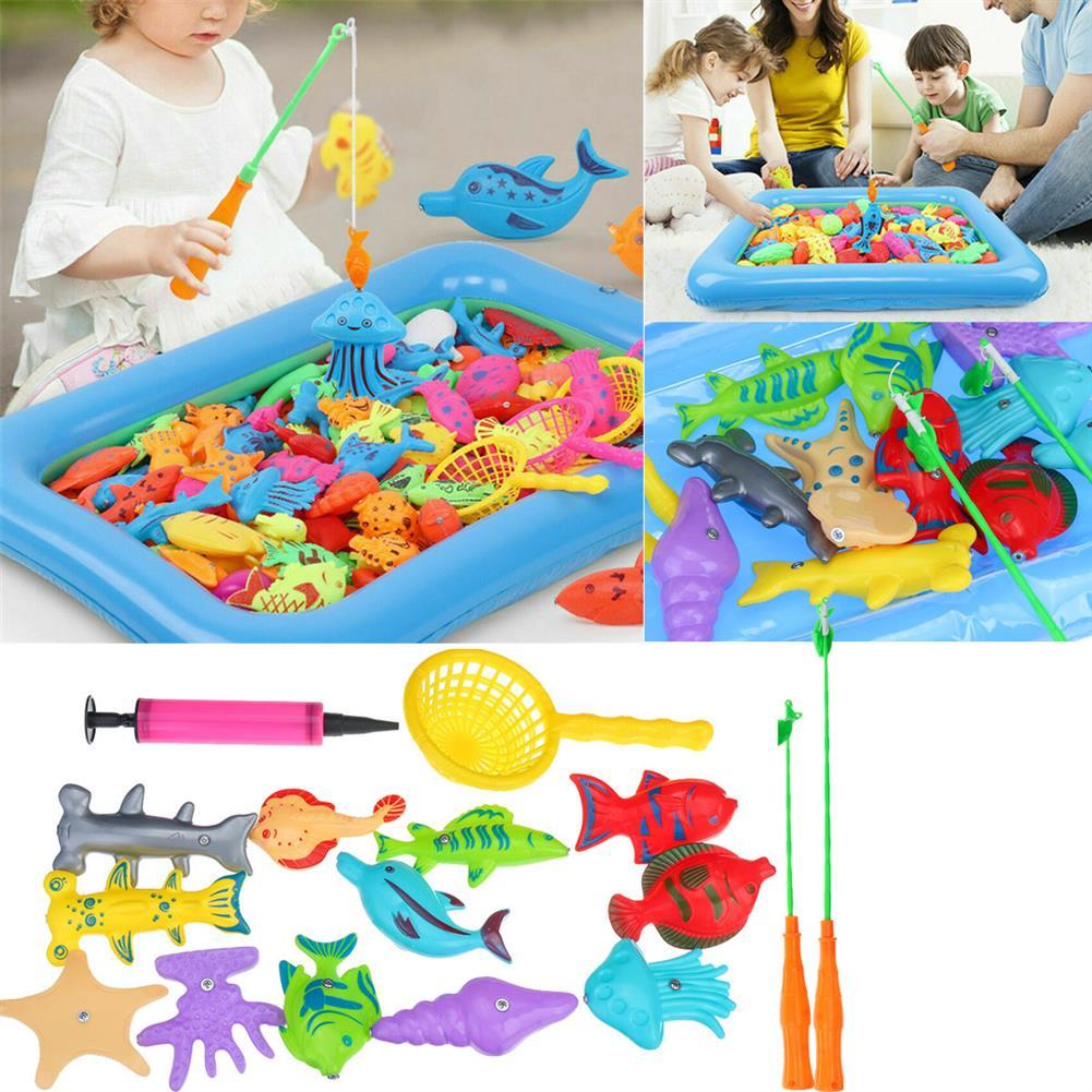 play-mats 18Pcs Fishing Toys Toddler Children Fishing Game Educational Toys Fish for Child Kid Gift HOB1818041