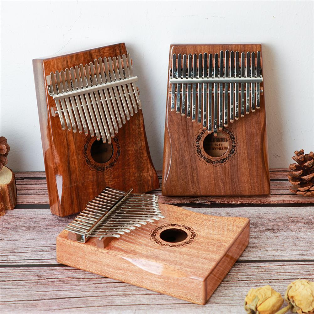 kalimba HLURU 17 Keys Kalimba FingerThumb Piano Beginner Practical Wood Muscial instrument HOB1818147