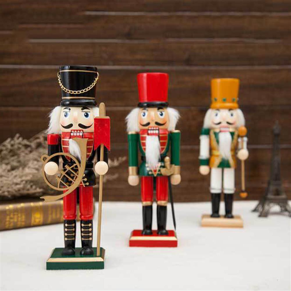 decoration 25cm Wooden Nutcracker Doll Soldier Vintage Handcraft Decoration Gifts HOB1818647