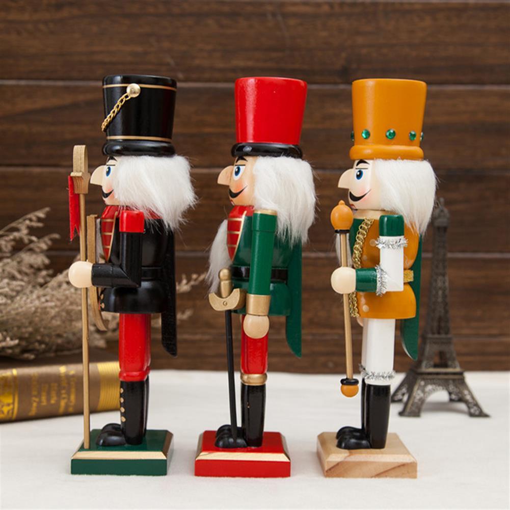 decoration 25cm Wooden Nutcracker Doll Soldier Vintage Handcraft Decoration Gifts HOB1818647 1