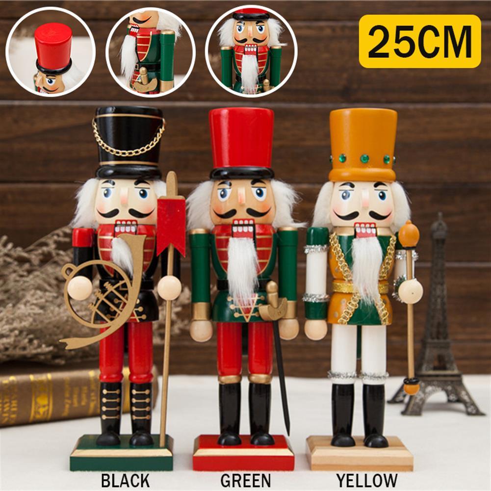 decoration 25cm Wooden Nutcracker Doll Soldier Vintage Handcraft Decoration Gifts HOB1818647 2