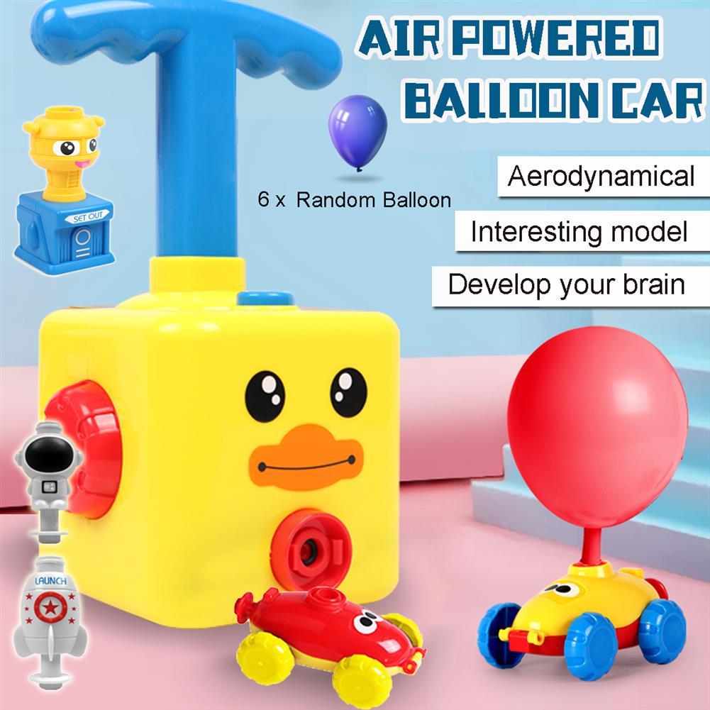 puzzle-game-toys NEW Fun inertia Balloon Powered Car Toys Aerodynamics inertial Power Kids Gifts HOB1818651 1