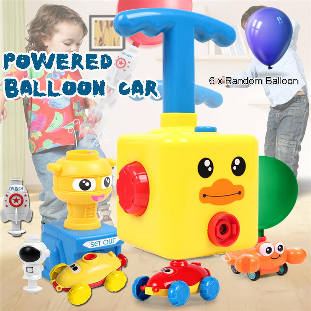 puzzle-game-toys NEW Fun inertia Balloon Powered Car Toys Aerodynamics inertial Power Kids Gifts HOB1818651 2