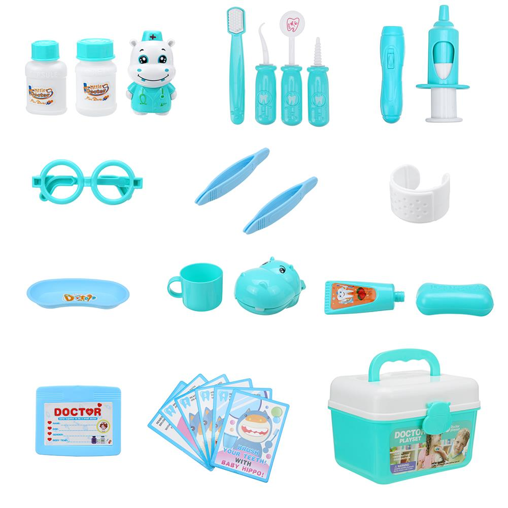 puzzle-game-toys Simulation Sound And Light Stethoscope Medical Kit Play House Toy Set with Doctor Uniform Early Education for Kids Toys HOB1818653 3