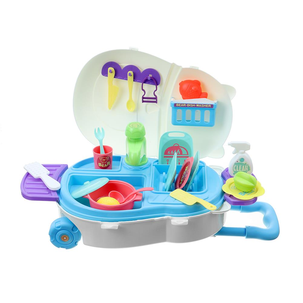puzzle-game-toys Kids Kitchen Dishwasher Playing Sink Dishes Toys Play Pretend Play Toy Set HOB1818657