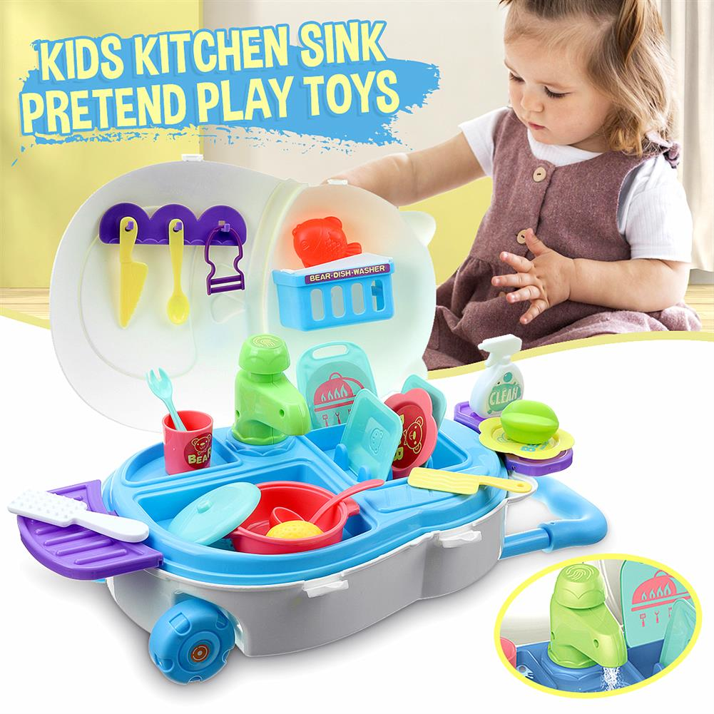 puzzle-game-toys Kids Kitchen Dishwasher Playing Sink Dishes Toys Play Pretend Play Toy Set HOB1818657 1