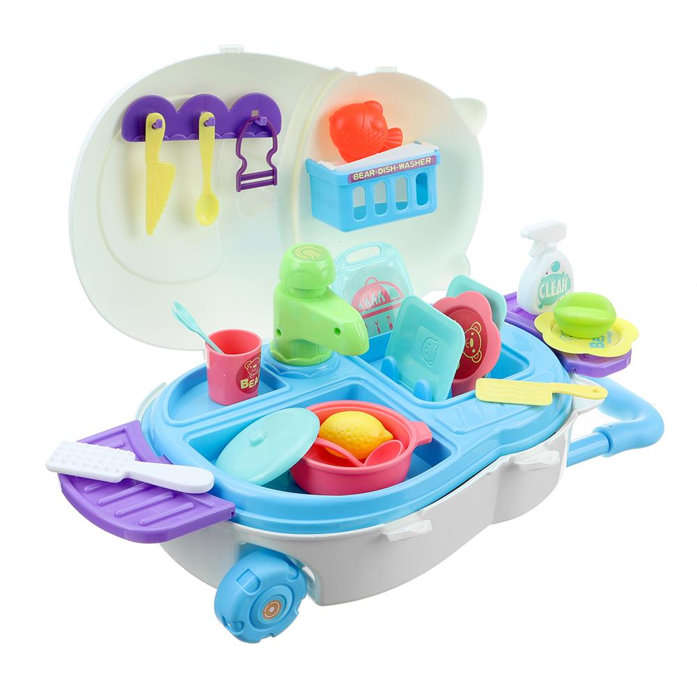 puzzle-game-toys Kids Kitchen Dishwasher Playing Sink Dishes Toys Play Pretend Play Toy Set HOB1818657 3