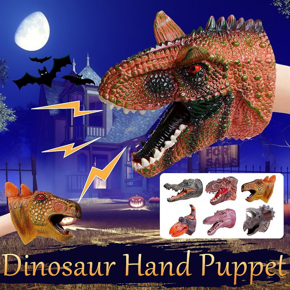 decoration Simulation Dinosaur Crocodile Hand Puppet Gloves Toys HOB1818660 2