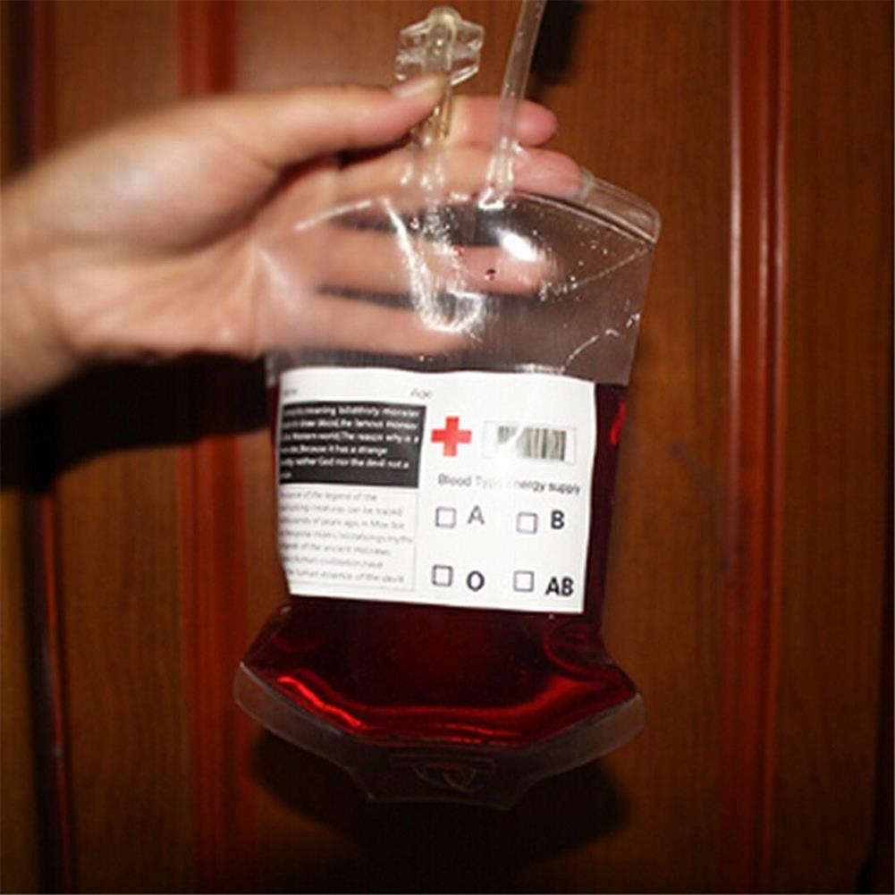 decoration 350ML Vampire Transparent Blood Bag PVC Reusable Blood Juice Energy Drink for Halloween Decorations HOB1818661 1