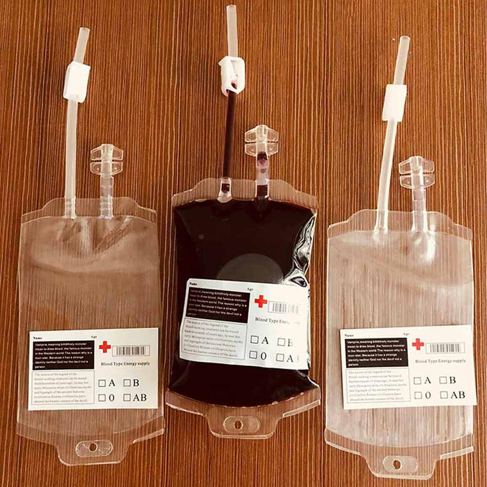 decoration 350ML Vampire Transparent Blood Bag PVC Reusable Blood Juice Energy Drink for Halloween Decorations HOB1818661 2