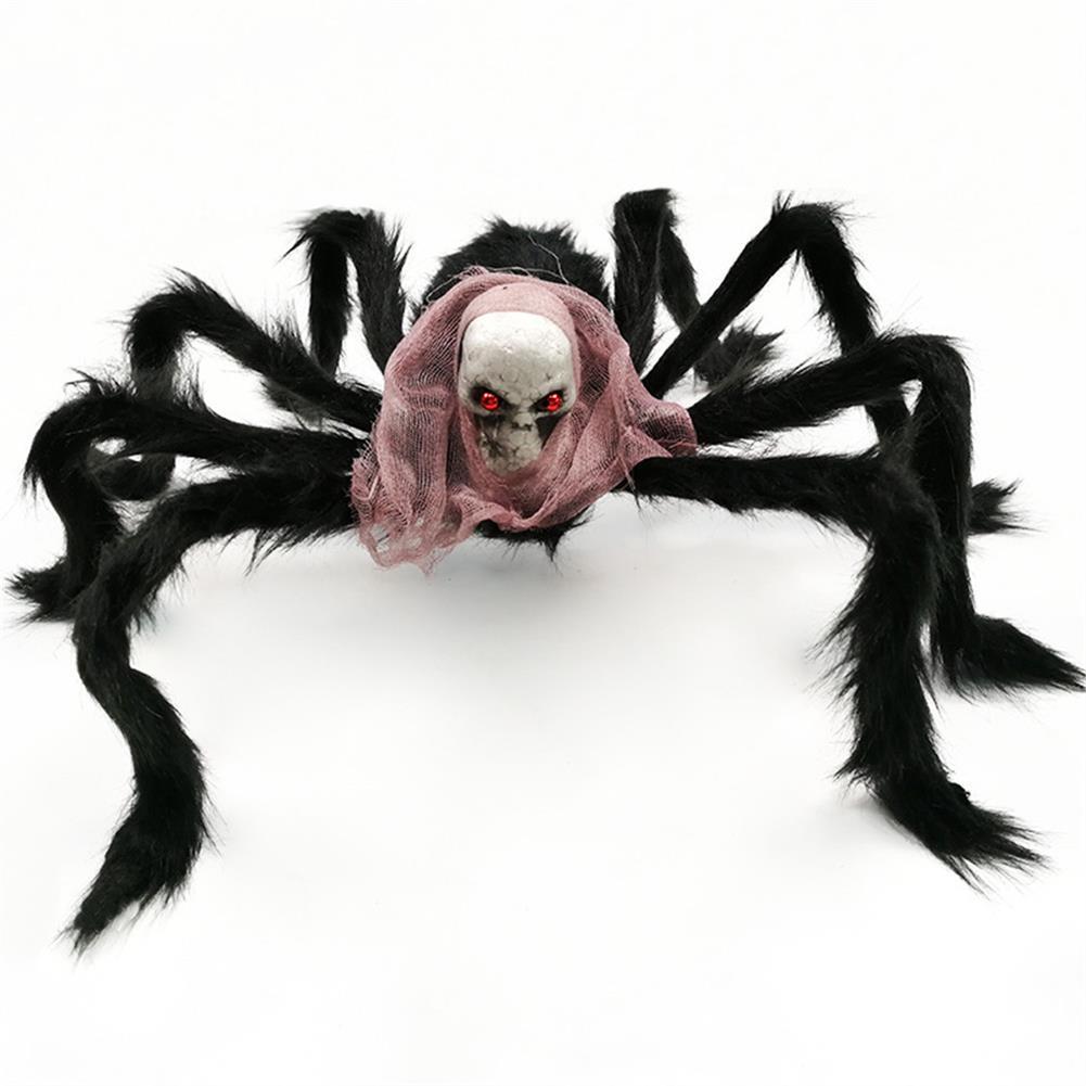stuffed-plush-toys 75*75cm Simulation Skull Ghost Head Plush Spider Spider Leg Straighten Horror Toy HOB1818663
