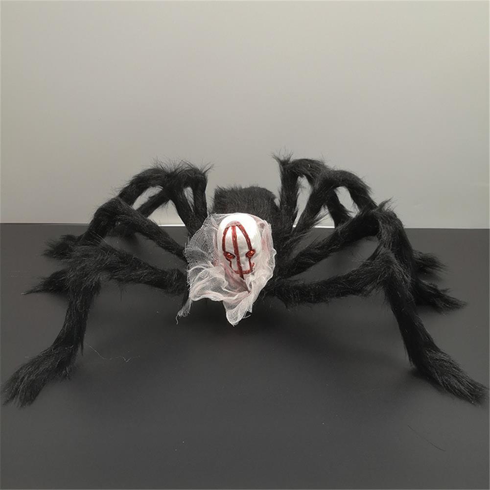stuffed-plush-toys 75*75cm Simulation Skull Ghost Head Plush Spider Spider Leg Straighten Horror Toy HOB1818663 1