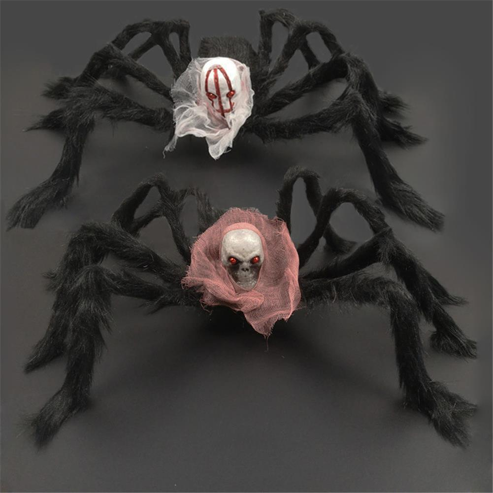 stuffed-plush-toys 75*75cm Simulation Skull Ghost Head Plush Spider Spider Leg Straighten Horror Toy HOB1818663 2