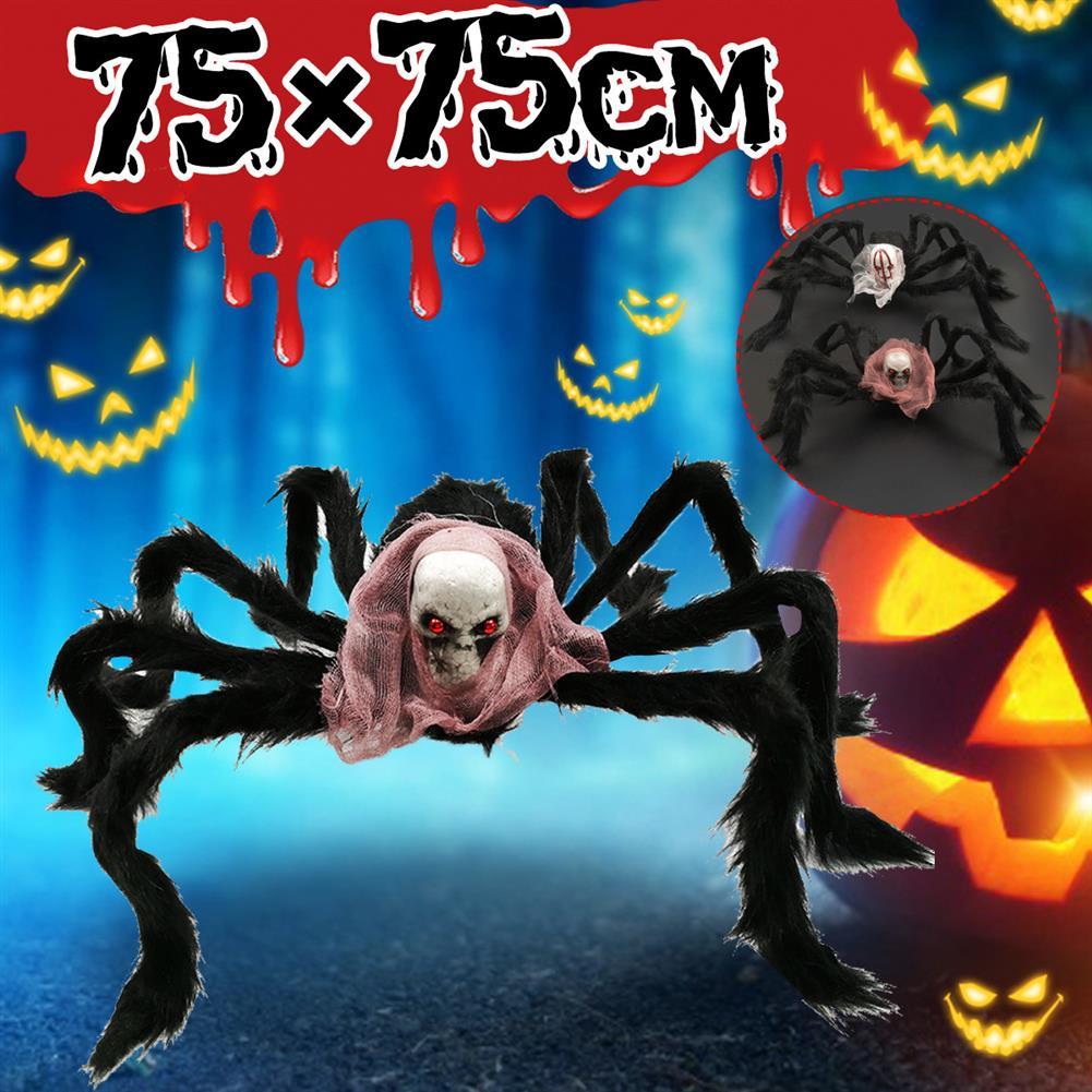 stuffed-plush-toys 75*75cm Simulation Skull Ghost Head Plush Spider Spider Leg Straighten Horror Toy HOB1818663 3