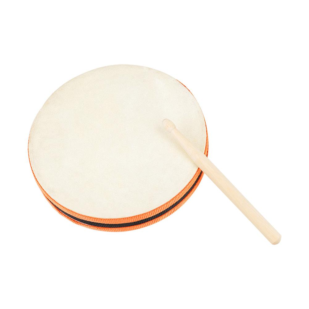 orff-instruments Wooden Sheepskin Hand Drum 20x20cm Hand Beat Drums with Drumstick SY-98 Orff Musical instrument HOB1819138
