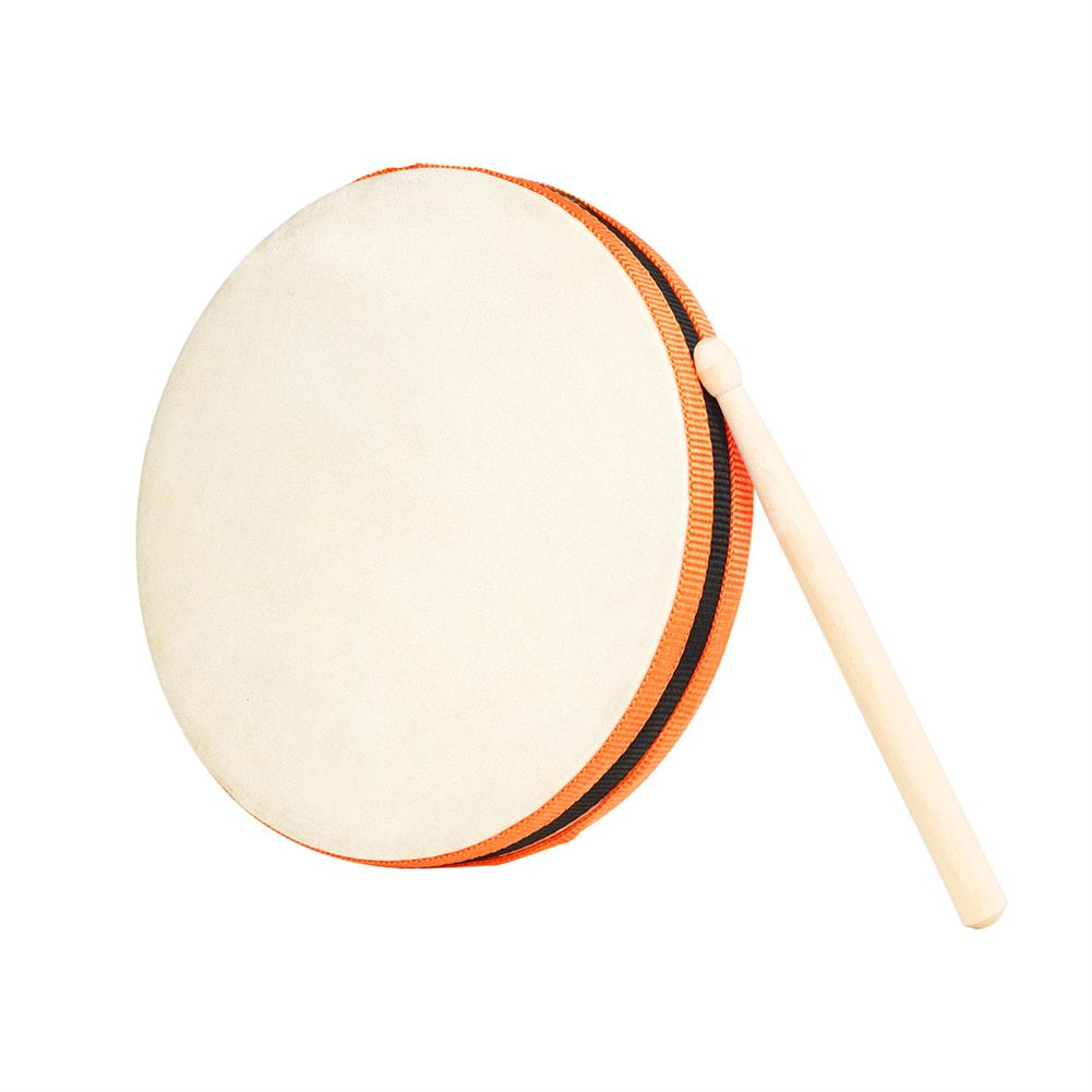 orff-instruments Wooden Sheepskin Hand Drum 20x20cm Hand Beat Drums with Drumstick SY-98 Orff Musical instrument HOB1819138 1