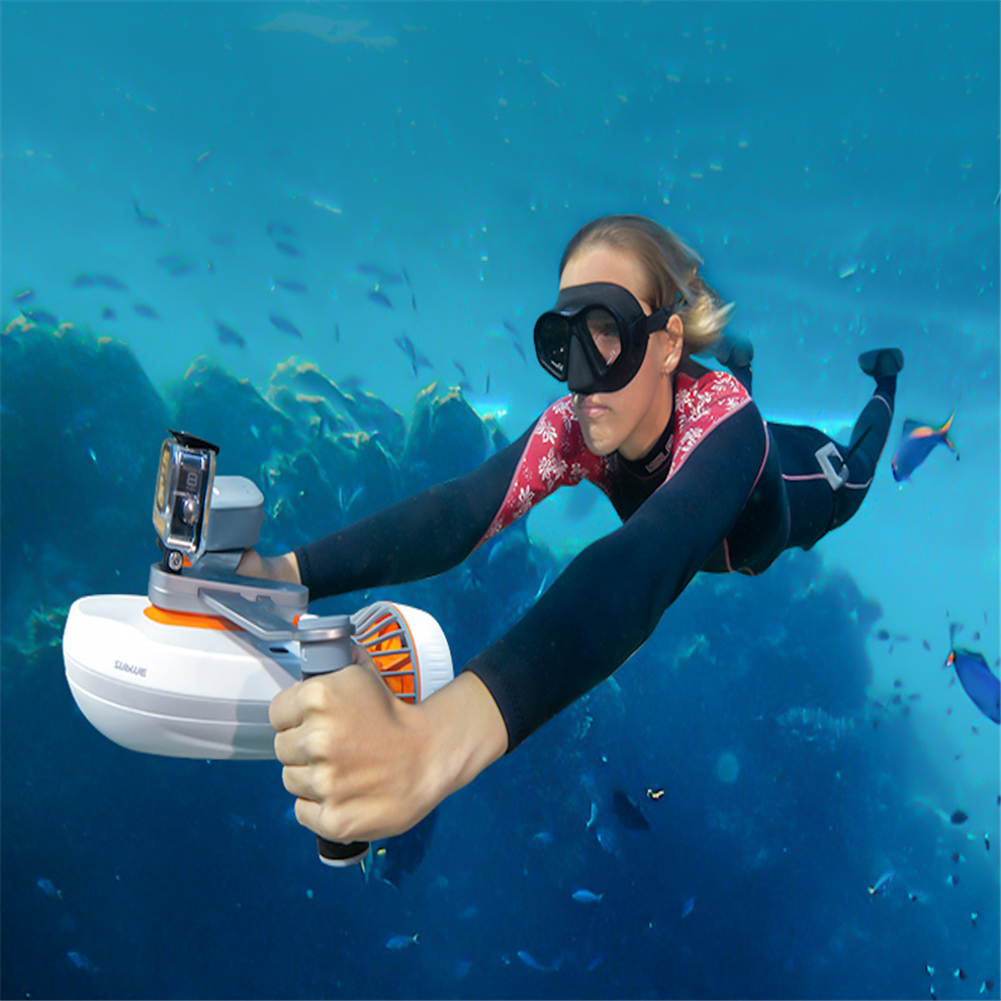 underwater-drone-scooter sublue Whiteshark Tini Underwater Scooter with Smartphone Case Mount/Camera Mount, Super Compact Water Scooter for Diving & Snorkeling & Sea Adventures HOB1819169 1