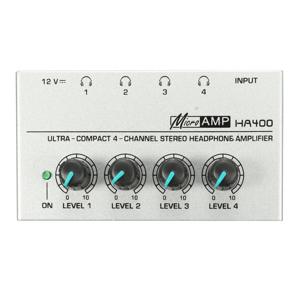 dj-mixers-equipment HA400 4 Channel Headphone Ultra-compact Audio Stereo Amp Microamp Amplifier HOB1820188
