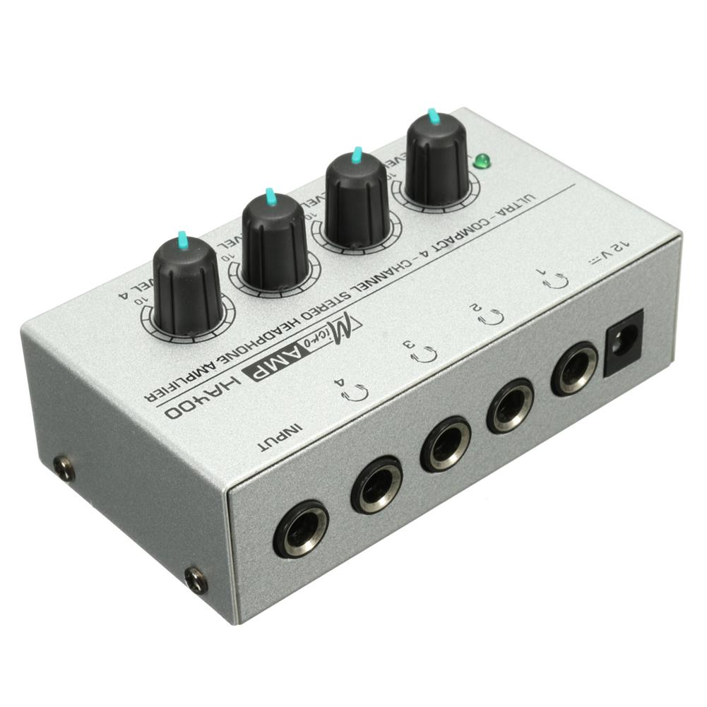 dj-mixers-equipment HA400 4 Channel Headphone Ultra-compact Audio Stereo Amp Microamp Amplifier HOB1820188 1