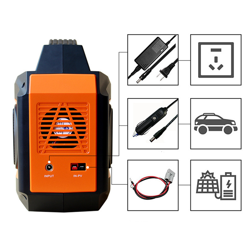 rc-quadcopter-parts G518 Portable Power Supply Station 110V/500W 96000mAH Energy Storage Solar Generator for RC Drones Outdoors Camping Travel Emergency HOB1821325 2