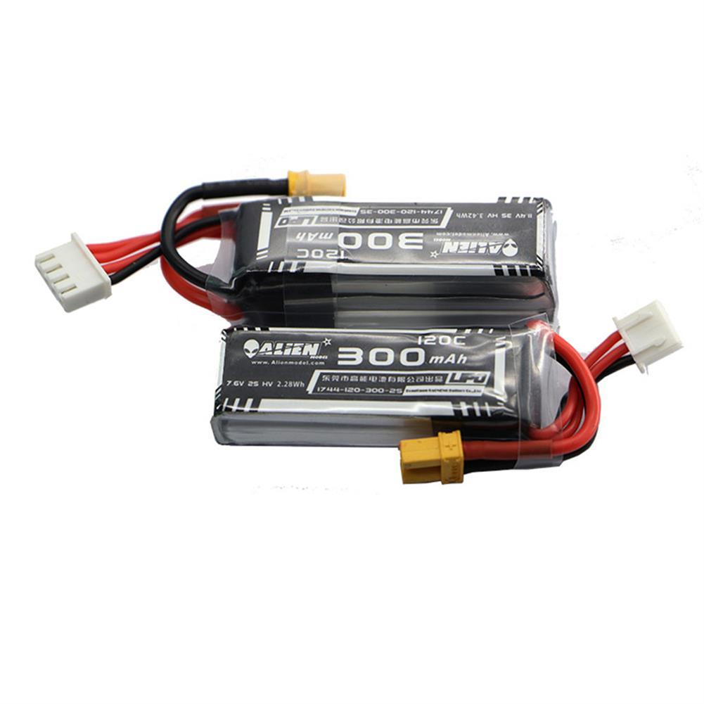 multi-rotor-parts Alienmodel 3S HV 11.4V 300mAh 120C Lipo Battery with XT30 Plug for Emax TinyhawkS BetaFPV FPV Racing RC Drone HOB1822130 1