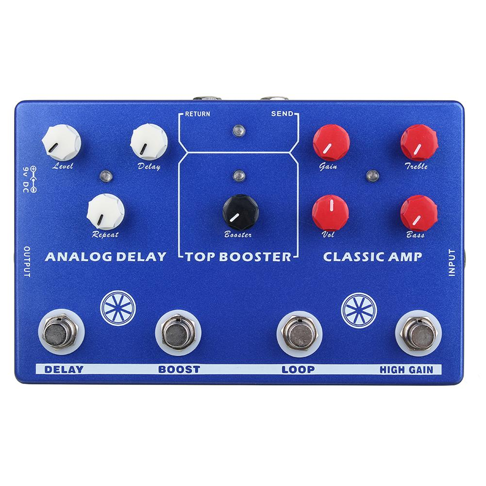 guitar-accessories MOSKY AUDIO TONE MAKER 4 in 1 AMP Simulate/LOOP/Booster/delay Guitar Effect Pedals And True Bypass HOB1827011