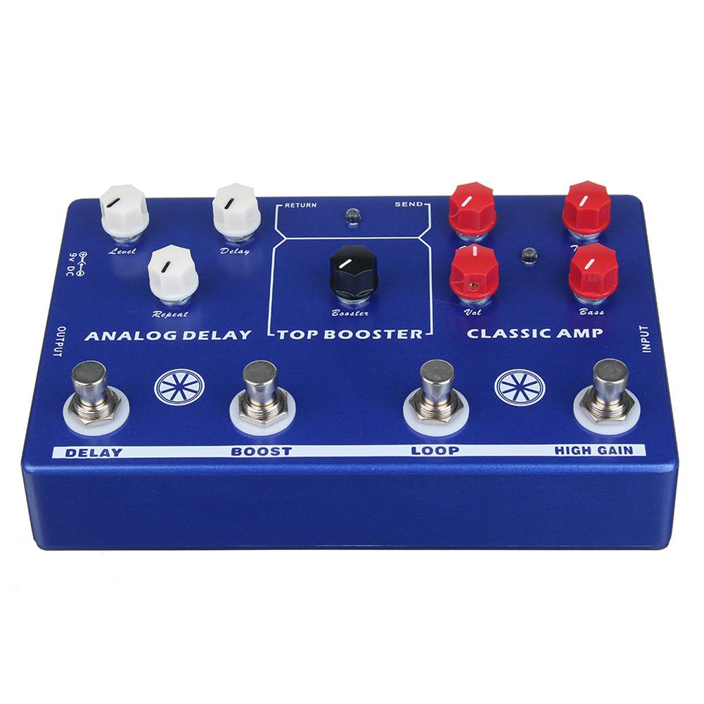 guitar-accessories MOSKY AUDIO TONE MAKER 4 in 1 AMP Simulate/LOOP/Booster/delay Guitar Effect Pedals And True Bypass HOB1827011 1