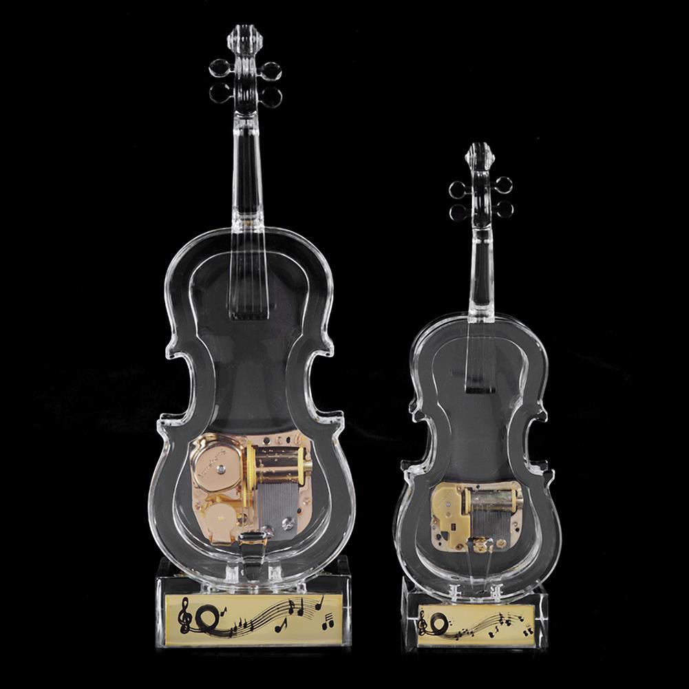 music-box Mechanical Wind-up Violin Shape Music Box Home Decoration Birthday Gifts HOB1827844