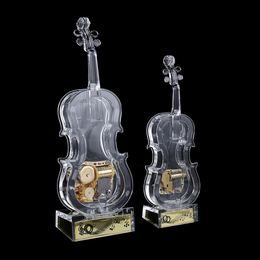 music-box Mechanical Wind-up Violin Shape Music Box Home Decoration Birthday Gifts HOB1827844 1