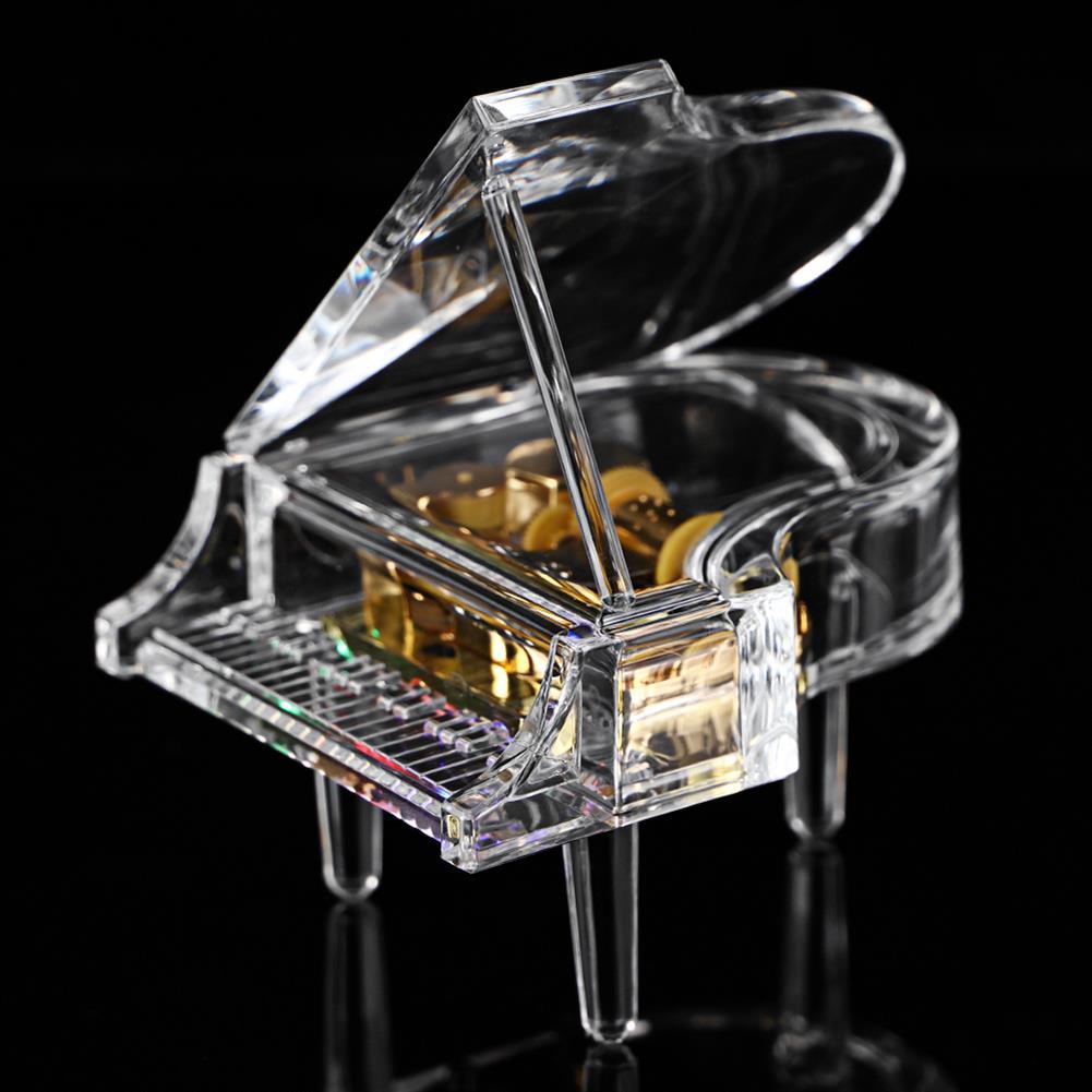 music-box Acrylic Piano Shape Music Box with Light Home Decoration Birthday Gifts HOB1827845 1