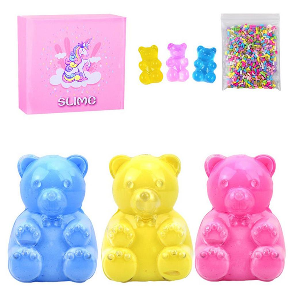 stress-relievers Areedy Bear Slime Simulation Bear And Sugar Cubes And Bear Accessories with Color Box Set indoor Toys HOB1828121