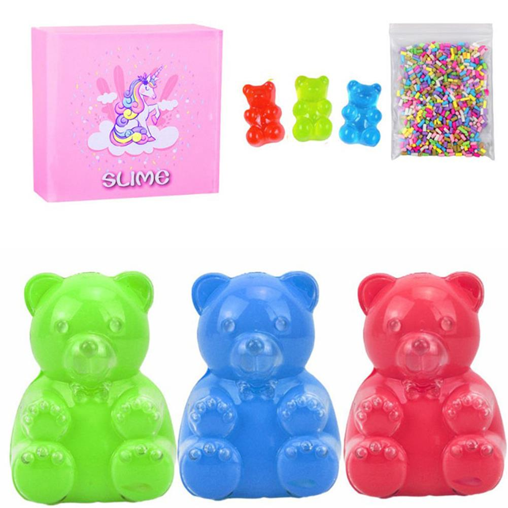 stress-relievers Areedy Bear Slime Simulation Bear And Sugar Cubes And Bear Accessories with Color Box Set indoor Toys HOB1828121 1