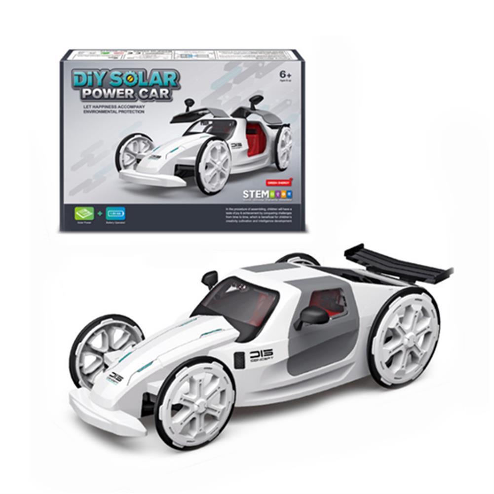 solar-powered-toys DIY Solar Power Car Electric 4-wheel Drive Model Educational Toys for Children HOB1828131